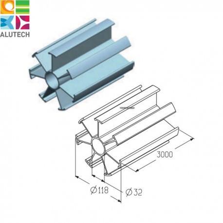 403520100 IP-152-3000 Alutech Профиль проставочный (м)