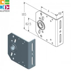 403430200 IB-86 Alutech Кронштейн промежуточный (шт.)