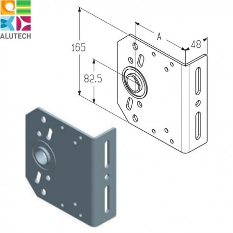 403430500 IB-152 Alutech Кронштейн промежуточный (шт.)