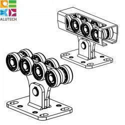 SGN.01.100 Alutech Опора роликовая (полимерные ролики), для ворот до 300 кг. Light (шт)