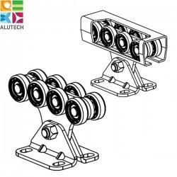 SGN.01.140 Alutech Опора роликовая (полимерные ролики), для ворот до 300 кг. Light (шт)