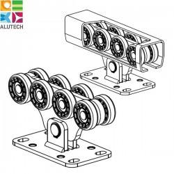SGN.02.100 Alutech Опора роликовая (полимерные ролики), для ворот до 500 кг. Light (шт)