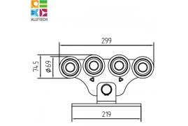 SGN.02.150 Alutech Опора роликовая (стальные ролики), для ворот до 700 кг. (шт)