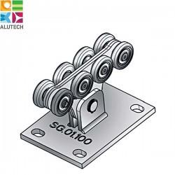 SG.01.100 Alutech Роликовая опора, для ворот до 500 кг. (шт)