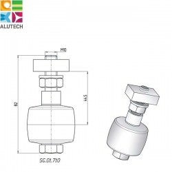 SG.01.710 Alutech Ролик резиновый (шт)