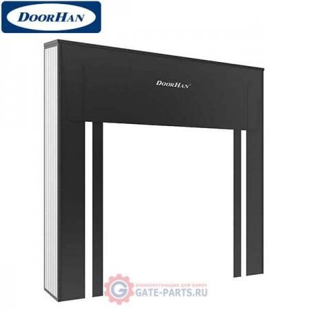 D.SH-RD3,0x3,0-1 DOORHAN Герметизатор проема 3000х3000 жесткий с одинарным верхним листом (комплект)