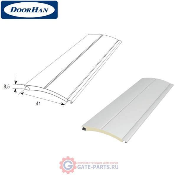 RH41N01 DoorHan Профиль с мягким пенным наполнителем RH41N белый (п/м)