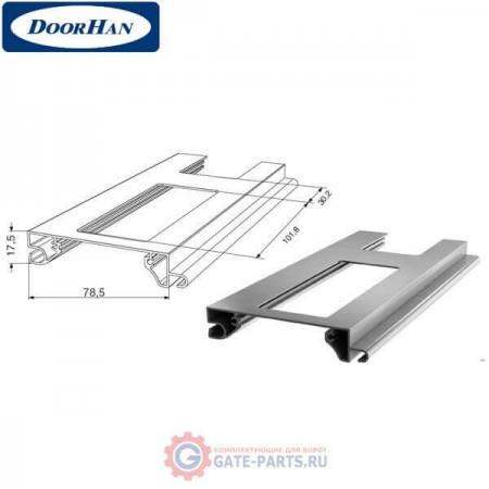 RHE78G03 DoorHan Профиль экструдированный RHE78G03 решеточный серый (п/м)