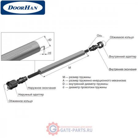 4ROL04/10 DoorHan Пружинно-инерционный механизм 4ROL04/10