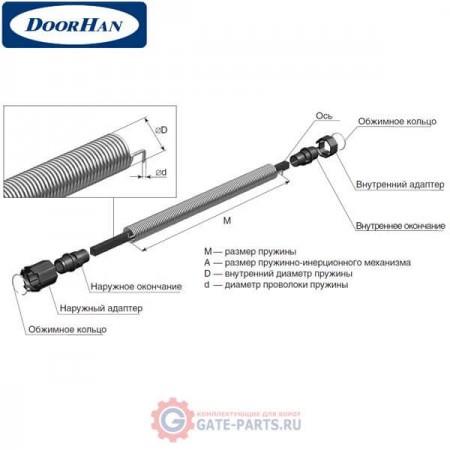 6ROL38/12 DoorHan Пружинно-инерционный механизм 6ROL38/12