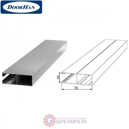 RG70MS08 DoorHan Направляющий профиль с щеткой RG70MS08 серебристый (п/м)