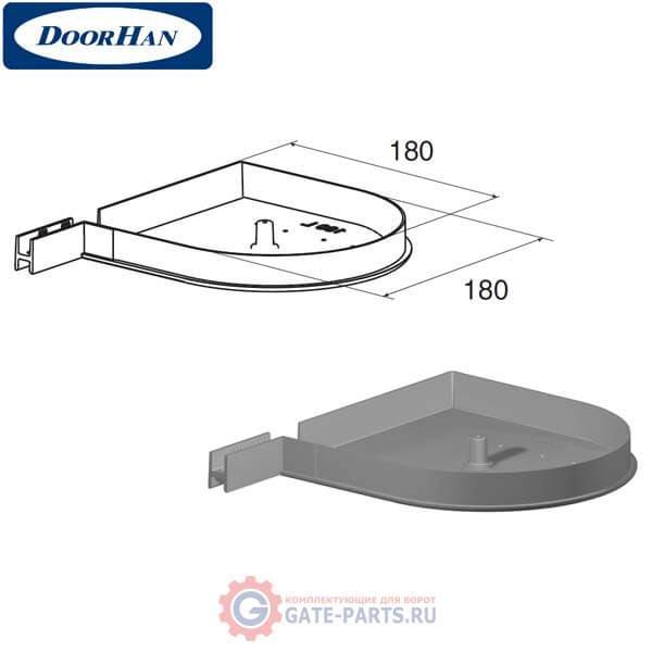 RK180D08 DoorHan Крышка боковая RK180D круглая серебристая (пара)