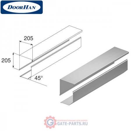 RB20508 DoorHan Короб защитный RB20508 серебристый (п/м)