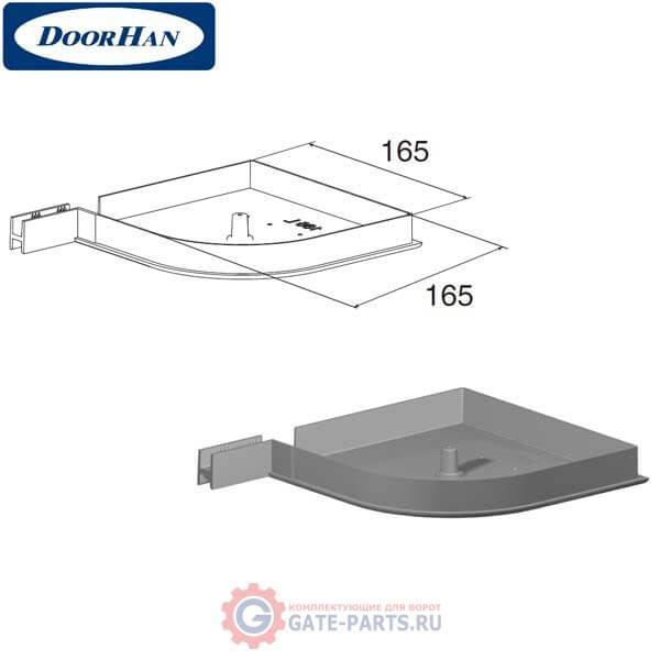 RK165R08 DoorHan Крышка боковая RK165R полукруглая серебристая (пара)