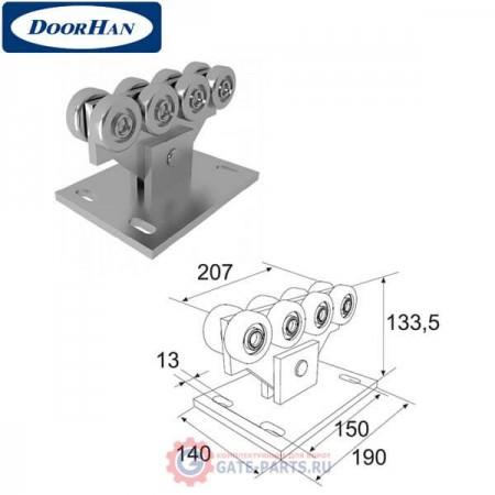 DHE4 DOORHAN Опора ролика облегченная сдвижных ворот для балки 71х60х3,5 (шт.)