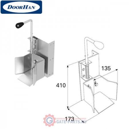 DHS20140 DOORHAN Ловитель нижний с задвижкой для балки 95х88х5 DHS201060