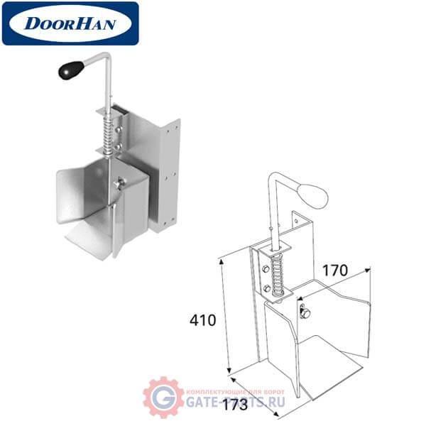 DHS20240 Ловитель нижний с задвижкой для балки 138х144х6 DHS202080