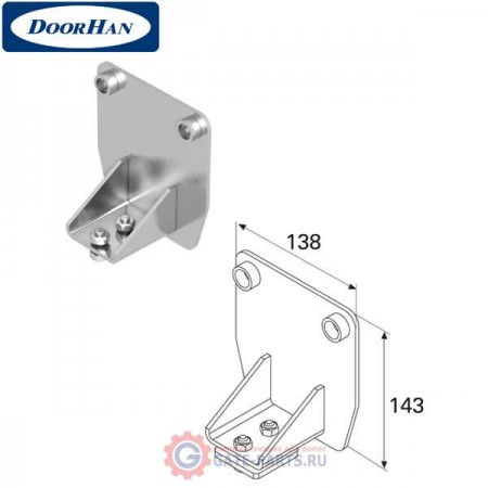 DHS20250 Крышка задняя для балки 138х144х6 DHS202080