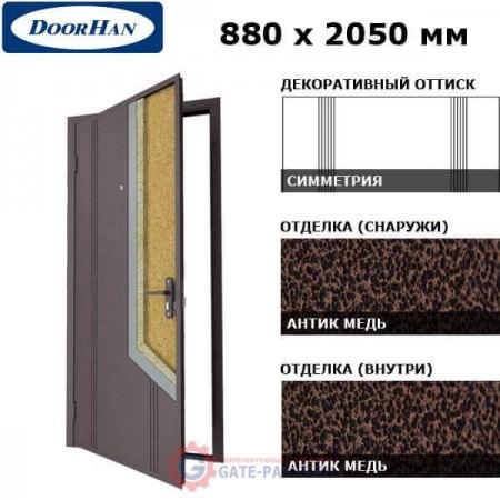 D-880-NB/AM/AM/L/N/k Doorhan Дверь НЕО(B) - 880х2050, левая Антик медь/Антик медь/серебро (шт.)