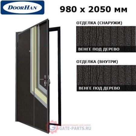 D-980-ML/8022/WG/L/N/sk Doorhan Дверь М-ЛАЙН - 980х2050, левая - 8022/WENGE/серебро (шт.)