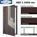 D-880-E/GS/GS/AM/L/N/a/sv Doorhan Дверь ЭКО - 880х2050, левая (шт.)