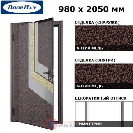 D-980-E/GS/GS/AM/L/N/a/sv Doorhan Дверь ЭКО - 980х2050, левая (шт.)