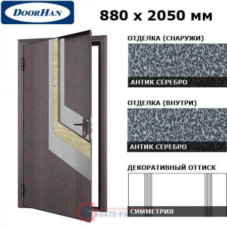 D-880-E/GS/GS/AS/L/N/b/sv Doorhan Дверь ЭКО - 880х2050, левая (шт.)