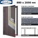 D-880-E/GS/GS/AS/R/N/b/sv Doorhan Дверь ЭКО - 880х2050, правая (шт.)