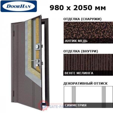 D-980-K/GS/AM/WM/R/N/sv Doorhan Дверь Комфорт - 980х2050, правая (шт.)