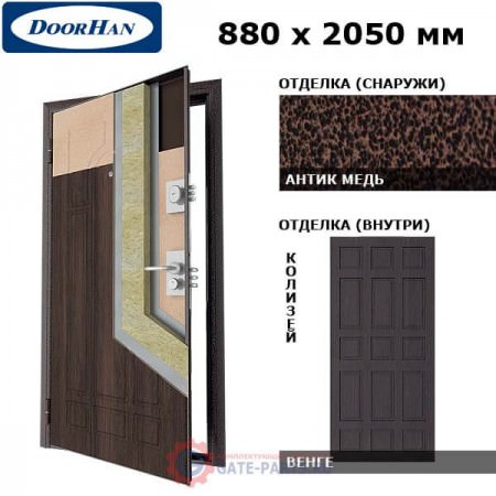 SD-880-P/AM/WG/KLZ/R/N Doorhan Дверь Премиум -880х2050, правая (шт.)