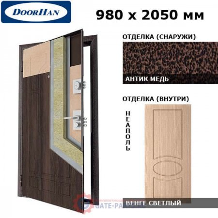 SD-980-P/AM/WGS/NE/R/N Doorhan Дверь Премиум - 980х2050, правая (шт.)