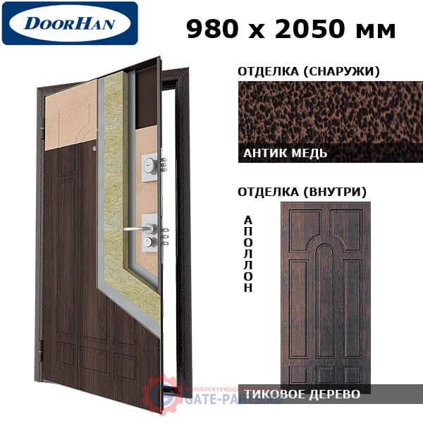SD-980-P/AM/TI/AP/R/L Doorhan Дверь Премиум - 980х2050, левая (шт.)