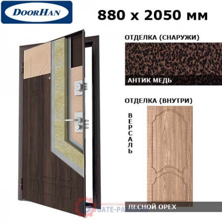 SD-880-P/AM/WG/AP/R/N Doorhan Дверь Премиум - 880х2050, правая (шт.)