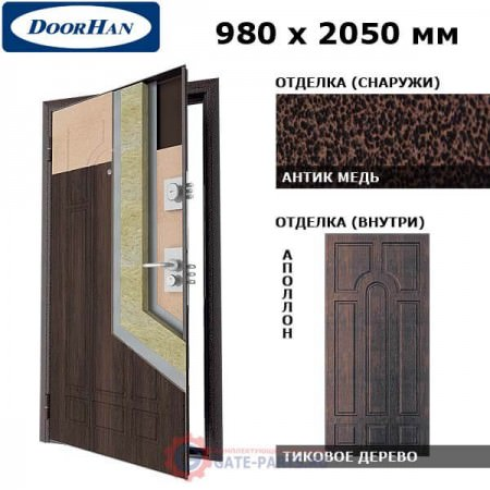 SD-980-P/AM/TIAP/TIAP/R/N Doorhan Дверь Премиум - 980х2050, правая (шт.)