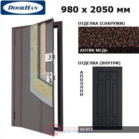 D-980-OO/AM/MPWG/AP/L/N/v Doorhan Дверь Оптим(O) - 980х2050, левая (шт.)