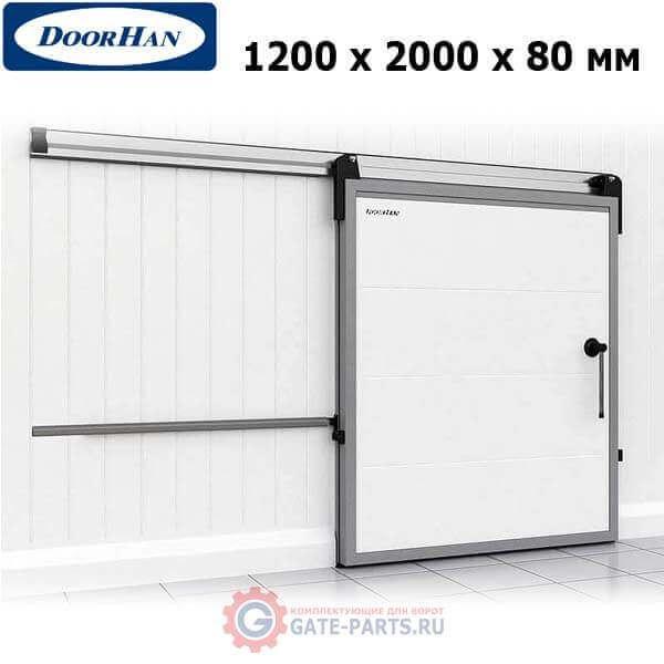 IDS1.8.120х200/L Doorhan Дверь откатная 1200х2000х80 для охлаждаемых помещений, левая (шт.)