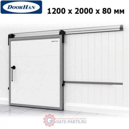 IDS1.8.120х200/R Doorhan Дверь откатная 1200х2000х80 для охлаждаемых помещений, правая (шт.)