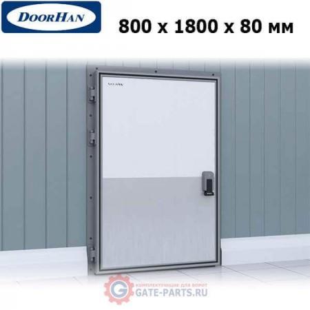 IDH1.8.80х180/L Doorhan Дверь распашная 800х1800х80 для охлаждаемых помещений, левая (шт.)
