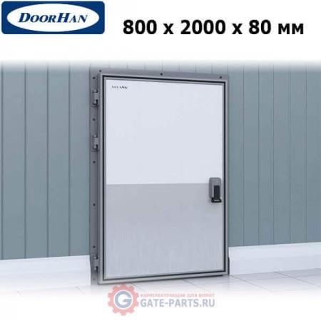 IDH1.8.80х200/L Doorhan Дверь распашная 800х2000х80 для охлаждаемых помещений, левая (шт.)