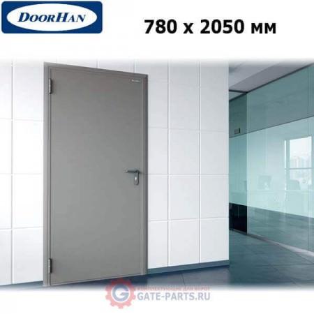 DTG/780/2050/7035/L/N Doorhan Дверь техническая 780х2050 одностворчатая, глухая, левая (шт.)