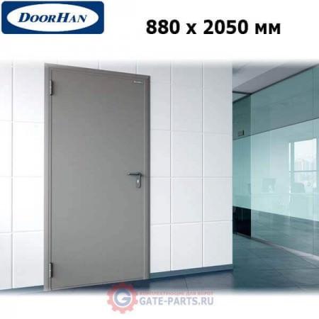 DTG/880/2050/7035/L/N Doorhan Дверь техническая 880х2050 одностворчатая, глухая, левая (шт.)
