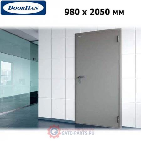 DTG/980/2050/7035/R/N Doorhan Дверь техническая 980х2050 одностворчатая, глухая, правая (шт.)