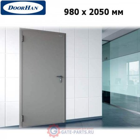 DTG/980/2050/7035/L/N Doorhan Дверь техническая 980х2050 одностворчатая, глухая, левая (шт.)