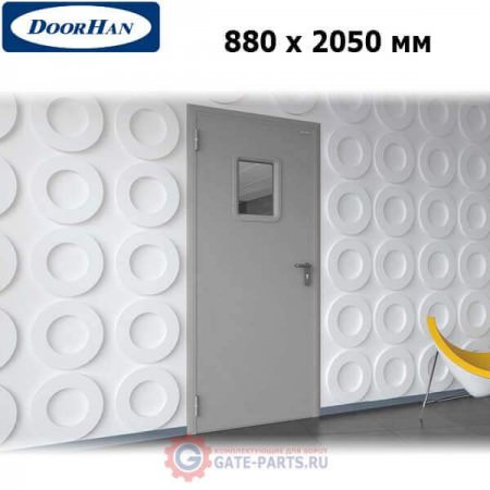 DTO/880/2050/7035/L/N Doorhan Дверь техническая 880х2050 одностворчатая, остекленная, левая (шт.)