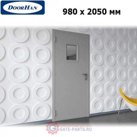 DTO/980/2050/7035/L/N Doorhan Дверь техническая 980х2050 одностворчатая, остекленная, левая (шт.)