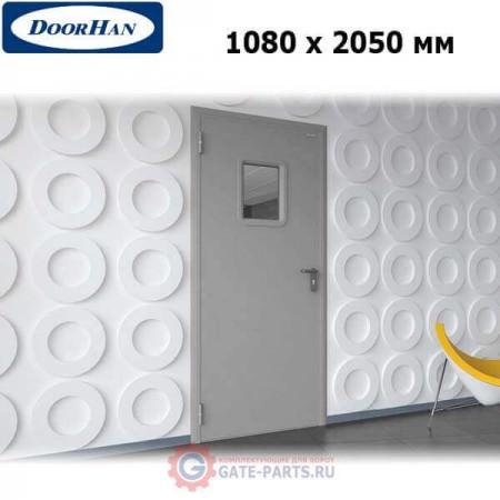 DTO/1080/2050/7035/L/N Doorhan Дверь техническая 1080х2050 одностворчатая, остекленная, левая (шт.)