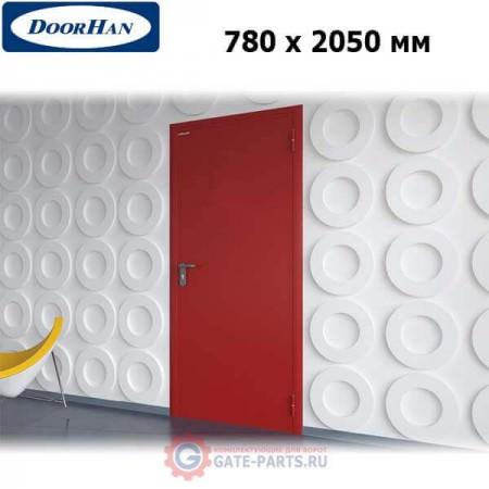 DPG60/780/2050/7035/R/N Doorhan Дверь противопожарная 780х2050 одностворчатая, глухая, правая, EI60 (шт.)
