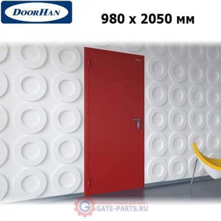 DPG60/980/2050/7035/L/N Doorhan Дверь противопожарная 980х2050 одностворчатая, глухая, левая, EI60 (шт.)