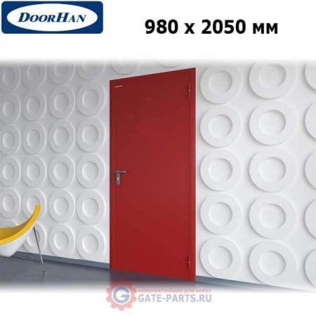 DPG60/980/2050/7035/R/N Doorhan Дверь противопожарная 980х2050 одностворчатая, глухая, правая, EI60 (шт.)