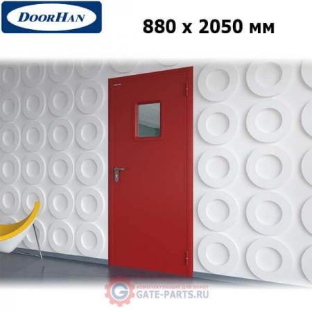 DPO60/880/2050/7035/R/N Doorhan Дверь противопожарная 880х2050 одностворчатая, остекленная, правая, EI60 (шт.)